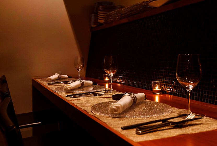 イタリア料理 虎ノ門「タニーチャ」のカウンター席