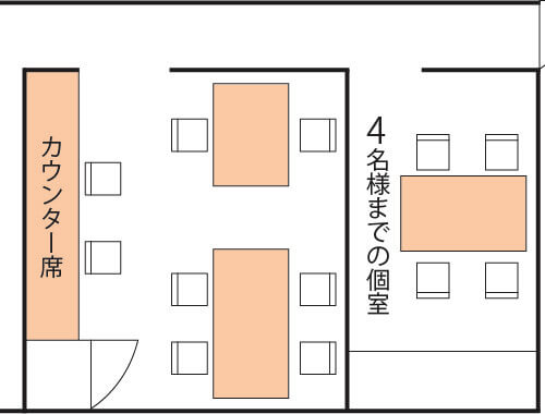 タニーチャ店内図