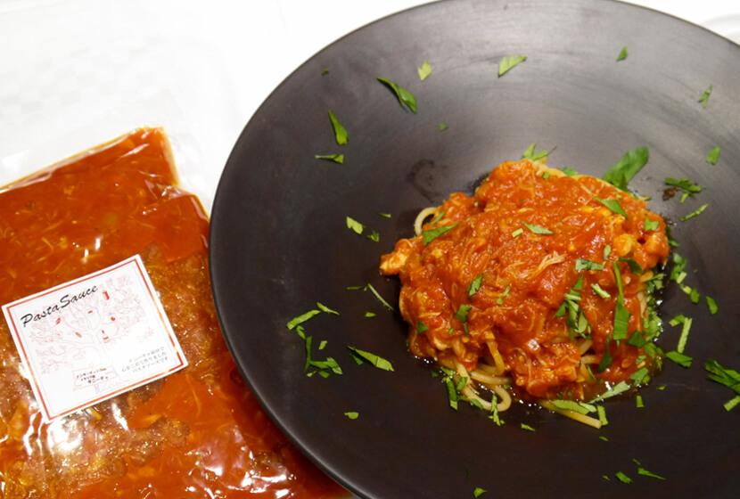 虎ノ門タニーチャ特製パスタソース「ズワイガニのトマトソース」